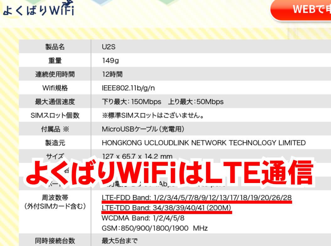 よくばりWiFiはLTE通信
